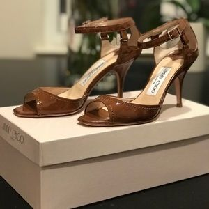 NEVER WORN AUTHENTIC Patent Cigar Jimmy Choo Heels